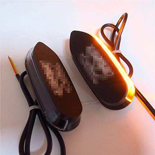 SMT- Led Amber Signal Mirror Block Off Base Plate Compatible with Suzuki Gsxr 600 750 1000 2006-2008 [P/N: MT222-010A]