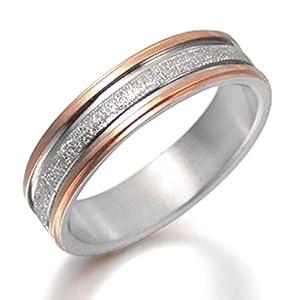 Gemini Damen-Ring Titan , Herren-Ring Titan , Freundschaftsringe , Hochzeitsringe , Eheringe, Farbe: Silber, Rotgold Breite 4mm Größe 48 - 66
