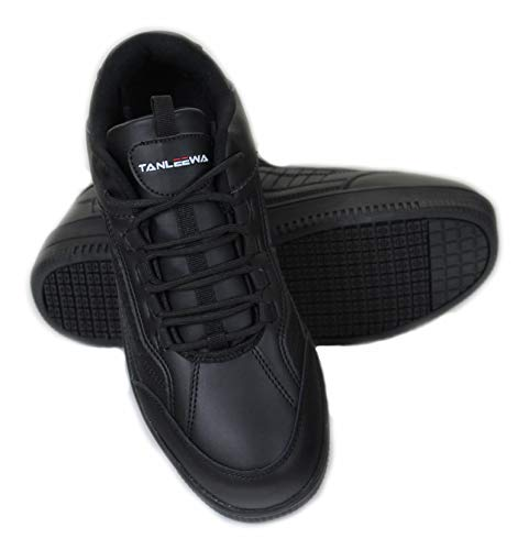 Townforst for Work Men's Slip and Oil Resistant Eamon Shoes 9 Black