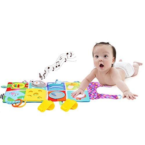HelloCreate Baby Crib Cloth Book Recién Nacido Educación Temprana Dibujos Animados Libro Educación Desarrollo Aprendizaje Juguete