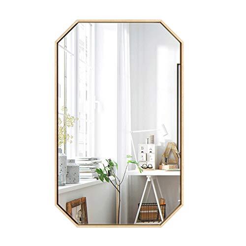 ZHOUHUAE Nordic Espejo de baño Espejo de Pared Simple Moderna Octogonal Espejo de Maquillaje Espejo de Cuerpo Entero Montaje de Espejo decoración del Hotel (Size : 40×60cm)