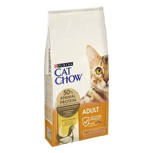 CAT CHOW Croquettes avec Naturiumtm Riche en Poulet pour Chat Adulte 10 kg