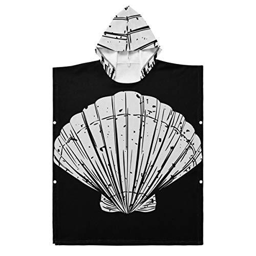 LORONA Kids Teens Polyester-Katoen Blend van Zomer en Strand Object Strand Handdoek Mantel Draagbare Hooded Deken Hoodie Mantel 35.43x27.55in/90x70cm Meerkleurig