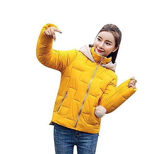 Zolimx Frauen Kurz Fell Wintermantel Mantel Kurz Mit BindegüRtel Winter Kurzmantel Warme Dünne Jacke Steppjacken Klassische Packbar Mantel