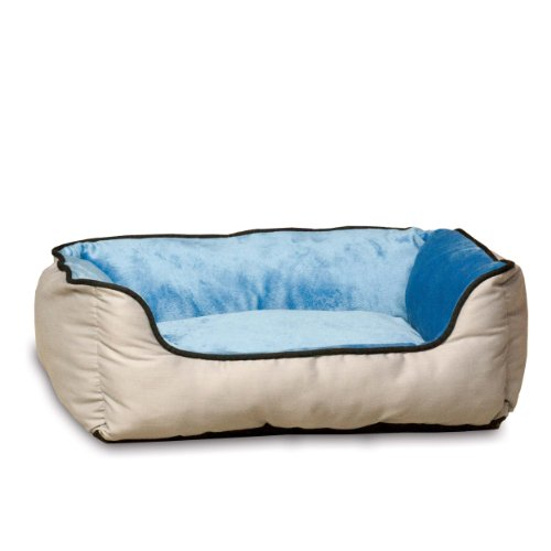 K&H Manufacturing Lounge Sleeper Self-Warming Pet Bed, 16-Inch by 20-Inch, Gray/Blue