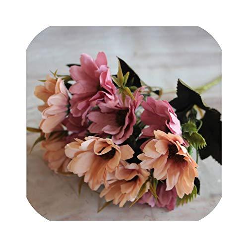 NA Kunstthee Rose Zijde Bloem Boeket voor Thuis Bruiloft Decoratie Europese Vaas Tafel Arrangement Nep Bloemen, Rood BRON