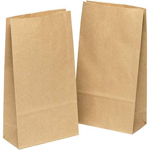 kgpack 50 STK Papiertüten klein 9 x 16 x 5 cm Kinder, Bodenbeutel, Obstbeutel, Mitgebsel Kindergeburtstag, Süßigkeiten, Geschenkverpackung, Tüten aus Braun Kraft Geschenkpapier