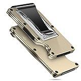 MUCO Tarjeteros para Tarjetas de Credito Tarjetero Hombre de Aluminio para la aviación Mini tarjetero metalico para 10-12 Tarjetas cartera tarjetero hombre en Protección RFID Resistente a los arañazos