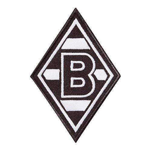 Flaggenfritze Aufnäher Borussia Mönchengladbach Raute - 6 x 9 cm + gratis Aufkleber