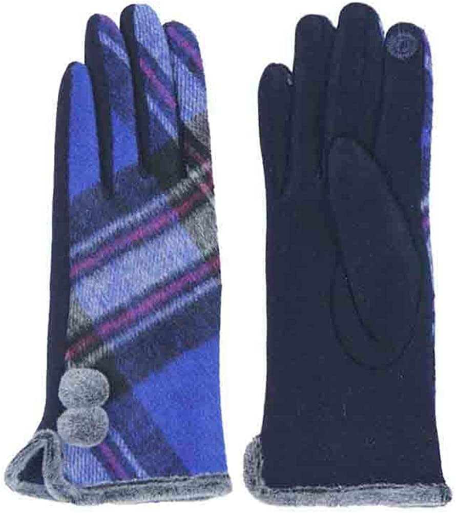 ScarvesMe Plaid Checker Pattern Touch Screen Gloves