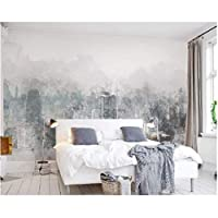 Iusasdz 現代の家の背景装飾的な壁紙ファッション水彩手描きの街の風景テレビの背景3D壁紙-150X120Cm