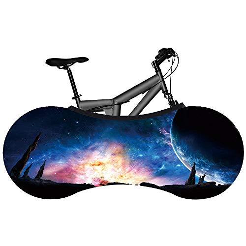 Funda para rueda de bicicleta, lona para bicicleta, cielo estrellado universal, planeta de bicicleta, funda antipolvo, elástica, para bicicleta de montaña, crema solar, funda de protección antipolvo, funda de protección para bicicleta, funda de rueda de vino.