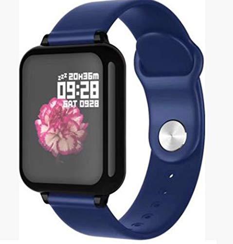 WEINANA Smart Watch Herzfrequenz Blutdruck Schrittzähler Bewegung Smart Watch Anruf Erinnerung Bluetooth Wasserdicht Smart Armband(Color:B.)