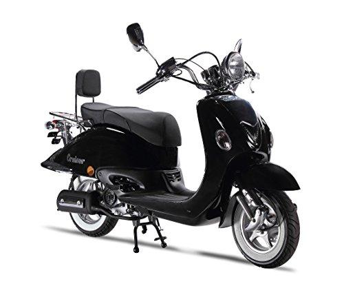 Motorroller LuXXon Cruiser - Retro Roller 45 km/h mit 3 PS - Euro 4 - schwarz