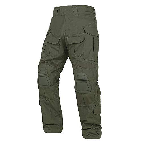 KRYDEX Tactical Men's G3 Combat Pants with Knee Pads (Ranger Green, M)