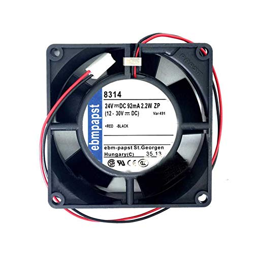N+A Dual Ball Inverter Cooling Fan For EBMPAPST 8314 2.2W 8032 8cm Two Wire 24v