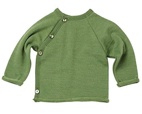 Reiff Schlüttli Wickelpullover Jacke Uni Wolle/Seide (grün, 62/68)
