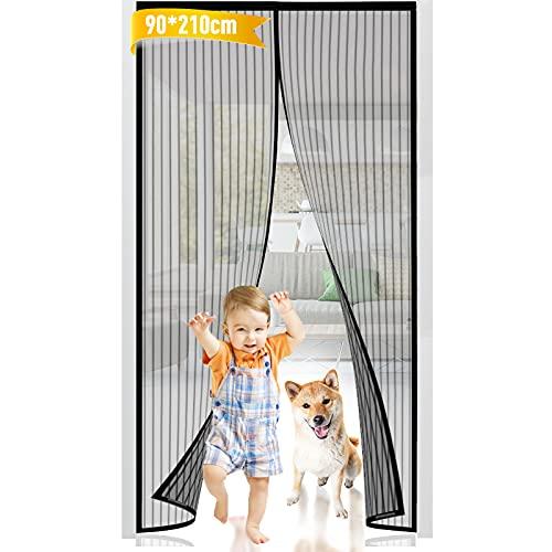 Mosquitera Puerta, Mosquitera Puerta Magnetica, 90*210cm Cortinas Mosquiteras para Puertas Exterior Anti Insectos Cierre Automático Mosquitera Puerta Corredera para Sala de Estar Patio Balcón