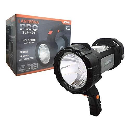 Lanterna Holofote LED CREE Recarregável Solver SLP-401 3W Autonomia 5h