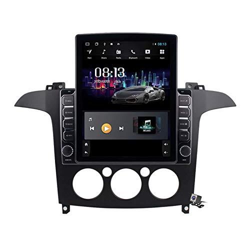 Estéreo para coche Android 9.0, compatible con radio Ford S-Max AC/MC 2007-2008 Navegación GPS Unidad principal de pantalla vertical de 9,7 pulgadas Reproductor multimedia MP5 Video con 4G WiFi Nav