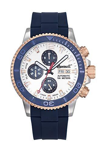Ingersoll Herren Analog Automatik Uhr mit Plastik Armband IN1105BL