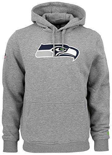 New Era - NFL Seattle Seahawks Team Logo Hoodie, Grau, 4XL