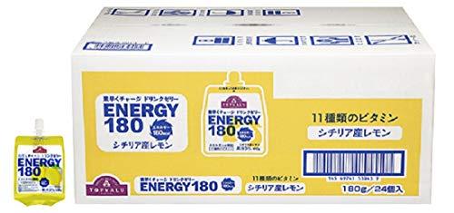トップバリュー(TOPVALU) 素早くチャージ ドリンクゼリー ENERGY180シチリア産レモン味180g×24個(1ケース)