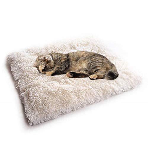 iBaste Kleinetier Bett für Hunde Katzen Kissen Weich Hundebett Hundeschlafplatz Katzendecke Rund Hundematratze Tierbedarf Hund Haustierbett-61cmx51cm