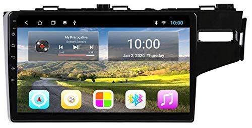 KLL Android 10.0 autoradio Navigazione per Honda Fit Jazz 2014-2018 RHD, Auto headunit Stereo Lettore multimediale Supporta BT/Mirror Link/USB