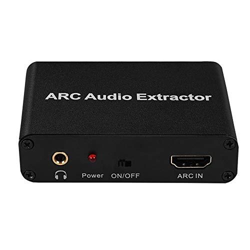 ARC naar Audio Adapter, HDMI Digitaal naar Analoog Coaxail ARC Audio Extractor Converter Retourkanaal Adapter, Aluminium Retourkanaal Adapter voor ARC Convert Optische Vezel/Coaxiaal/3,5 mm Hoofdtelef
