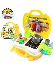 Merlin Delhi Design Ultimate Kid Chef Bring Along Kitchen Cooking Suitcase Set (26 Pieces) - Multicolor