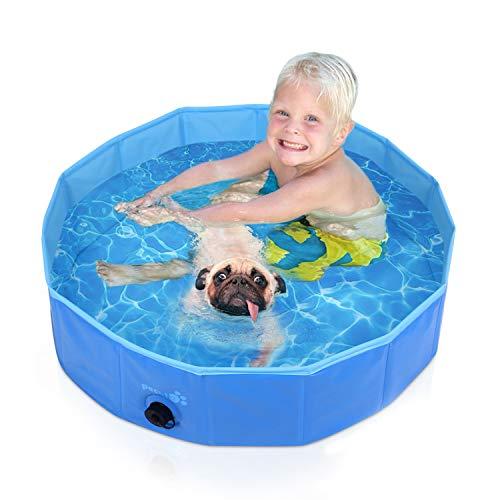 Pecute プール 子供用 ペット用 ベビープール 庭 プール バスタブ 頑丈設計 安心安全な 水遊び スイミング ...