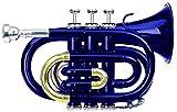 Classic Cantabile Brass TT-400B trompeta de bolsillo azul