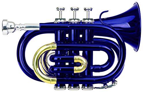 Classic Cantabile Brass TT-400 Tromba tascabile pocket Brass Sib ottone blu