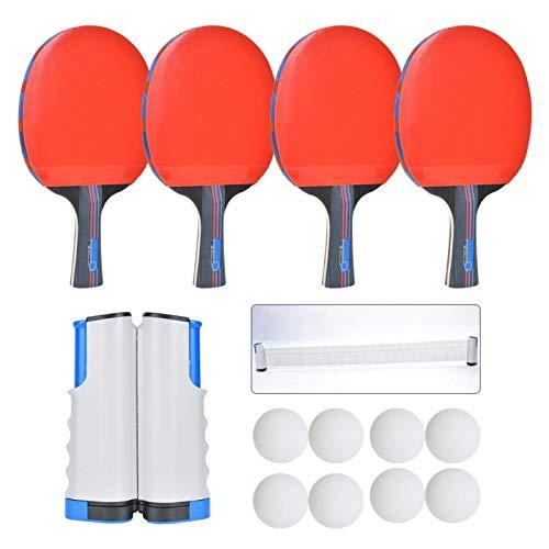 DAUERHAFT Pelotas de Ping Pong de Goma Accesorios Pelota de Ping Pong de 7 Capas, para Juegos