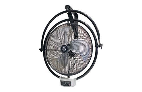 VDC Ventilador Industrial Pared Y Techo 120W Timer 7.5H Y Mando