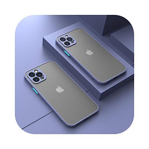 Custodia protettiva per fotocamera per iPhone 11 Pro Max 12 Mini 7 8 6 6S Plus XR X XS MAX SE 2020 Custodia in silicone bumper satinato Cover viola per iPhone 8 Plus