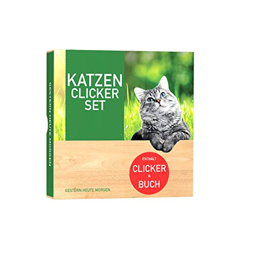 gestern.heute.morgen | Die ultimative Katzen Clicker Box! Alles für sofortigen Spielspaß mit Ihrer Katze inkl. Buch und Premium Clicker