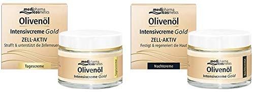 Olivenöl Intensivcreme Gold Zell-Aktiv Tagespflege und Nachtpflege Set von Medipharma