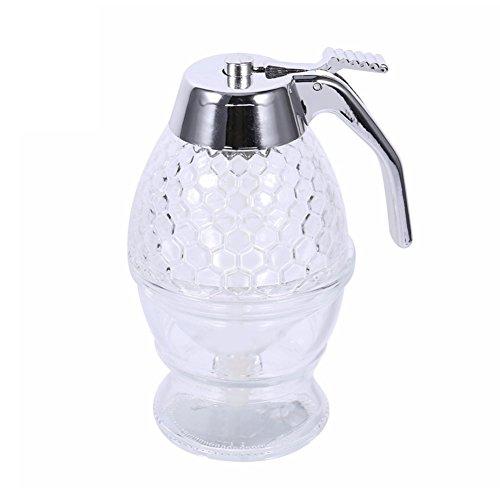 Snoozihedz Distributeur de miel et sirop en acrylique sans BPA avec support, 200 ml