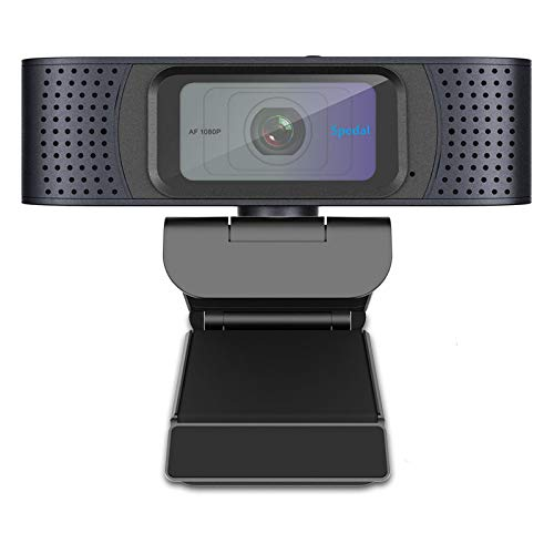 Webcam 1080P with Privacy Shutter, Autofocus Webcam with Dual Microphones, USB Streaming Camera Desktop or Laptop Webcam Computer Camera for Skype OBS YouTube Twitch