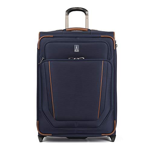 Travelpro Crew Versapack-Softside Expandable Upright Luggage, Patriot Blue, Checked-Medium 26-Inch