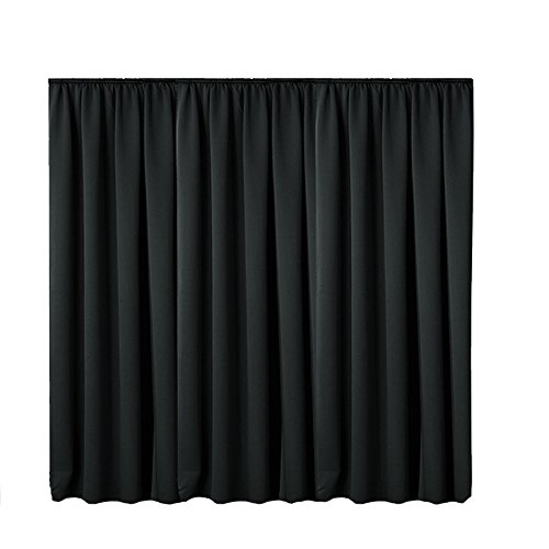 JEMIDI Gardine Vorhang Kräuselband Übergröße Blickdicht 245cm (L) x 300cm (B) Schal Universalband Dekoschal (Kräuselband 245cm x 300cm, Schwarz)