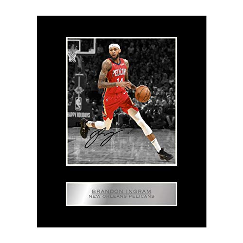 Brandon Ingram Signed Mounted Photo Display New Orleans Pelicans #03 NBA Printed Autograph Gift Picture Print