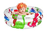 Owme Inflatable Kids Bath Tub-3 feet Baby Water Kiddie Pool with Pump Dinosaur Design