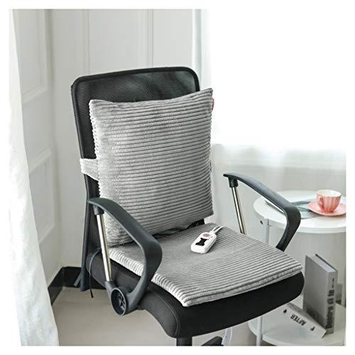 OCYE verwarmingskussen voor de zitting met thermostaat, snel verwarmend, voor op kantoor, wasbaar, 40 x 40 cm