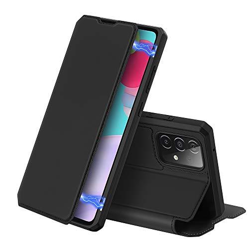 DUX DUCIS Hülle für Samsung Galaxy A52 4G / 5G, Premium Leder Magnet Klappbar Schutzhülle Handyhülle für Samsung Galaxy A52 4G / 5G (Schwarz)