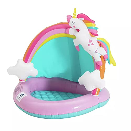Chad Valley Unicorn Baby Shaded Paddling Pool - 28 litres