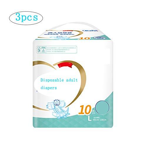 Thole Inkontinenzslips Windeln für Erwachsene Frau Nasser Urin für sicheren Auslaufschutz vor Benetzung Mutterschaft Einwegwindeln 30St,XL(110-160cm)