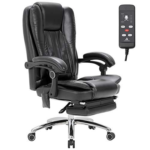 MELLCOM Massage Office Chair Ergonomic Computer Chair with Vibration Massage and Kneading Massage, Lumbar Support,High Back Executive 3D Massage Chair,Swivel Office Chair